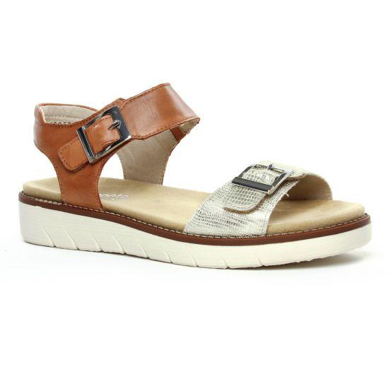 Nu Pieds Et Sandales Remonte D2051-24 Light Gold, vue principale de la chaussure femme