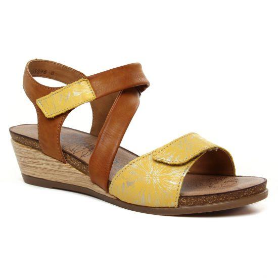 Nu Pieds Et Sandales Remonte R4462-68 Gelb, vue principale de la chaussure femme