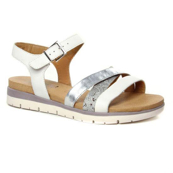 Nu Pieds Et Sandales Caprice 28603 Lt Grey Comb, vue principale de la chaussure femme