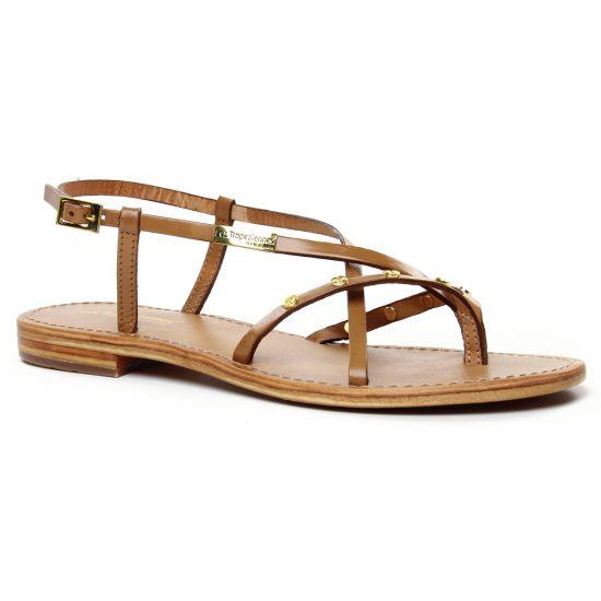 Nu Pieds Et Sandales Les Tropeziennes Monaclou Miel, vue principale de la chaussure femme