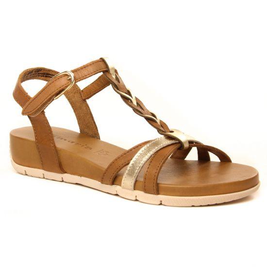 Nu Pieds Et Sandales Tamaris 28251 Cognac Gold, vue principale de la chaussure femme