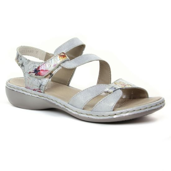 Nu Pieds Et Sandales Rieker 65969-82 Ice, vue principale de la chaussure femme
