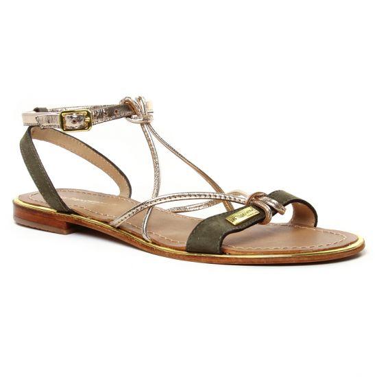 Nu Pieds Et Sandales Les Tropeziennes Hironbuc Kaki, vue principale de la chaussure femme