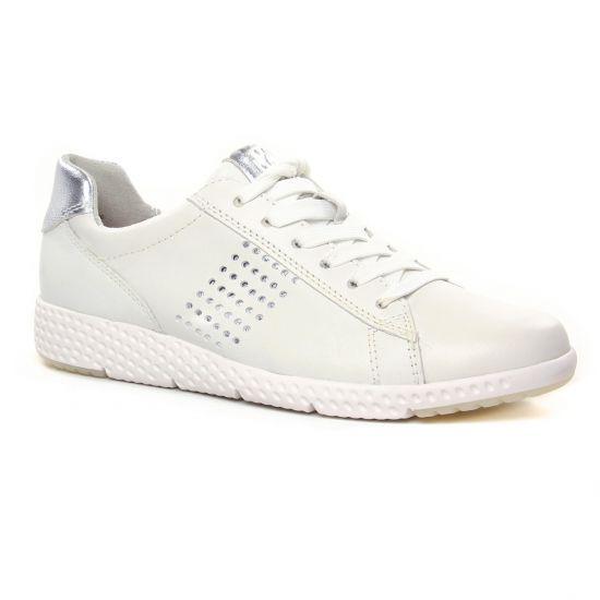 Tennis Et Baskets Mode Marco Tozzi 23766 White Silver, vue principale de la chaussure femme