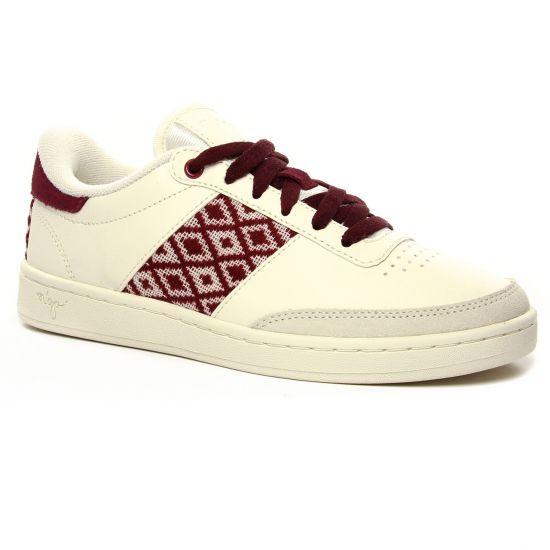 Tennis Et Baskets Mode Ngo Da Lat - Cream Burgundy, vue principale de la chaussure femme