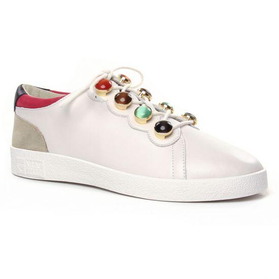 Tennis Et Baskets Mode Mamzelle Bula Blanc, vue principale de la chaussure femme