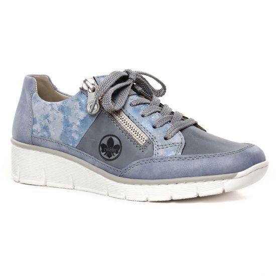 Tennis Et Baskets Mode Rieker 53716-12 Blue, vue principale de la chaussure femme