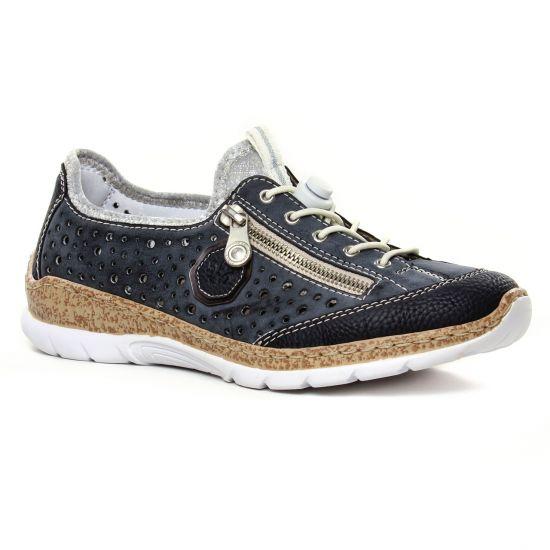 Tennis Et Baskets Mode Rieker N42P6-14 Pazifik, vue principale de la chaussure femme