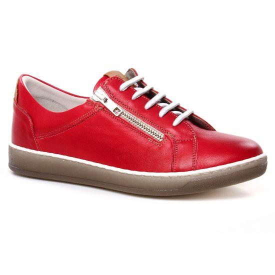 Tennis Et Baskets Mode Dorking Karen D8225 Rouge, vue principale de la chaussure femme
