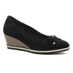 Chaussures femme été 2021 - ballerines compensées tamaris noir