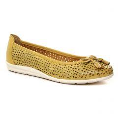 Chaussures femme été 2021 - ballerines marco tozzi jaune