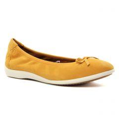 Chaussures femme été 2021 - ballerines tamaris jaune