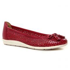 Chaussures femme été 2021 - ballerines marco tozzi rouge