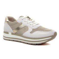 baskets-plateforme blanc beige: même style de chaussures en ligne pour femmes que les Émilie Karston