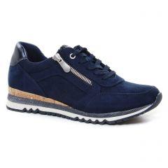 baskets-compensees bleu marine: même style de chaussures en ligne pour femmes que les Marco Tozzi