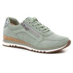baskets-compensees vert: même style de chaussures en ligne pour femmes que les Marco Tozzi
