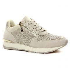Chaussures femme été 2021 - baskets mode tamaris beige claire