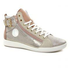 baskets-mode beige doré: même style de chaussures en ligne pour femmes que les Tamaris