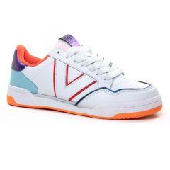 Chaussures femme été 2021 - tennis Victoria blanc bleu
