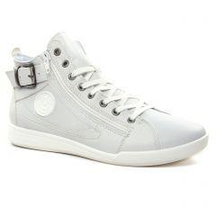 baskets-mode blanc gris: même style de chaussures en ligne pour femmes que les Tamaris