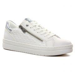 Chaussures femme été 2021 - baskets mode marco tozzi blanc