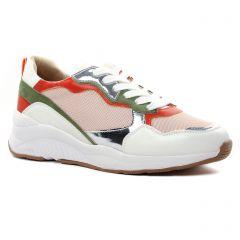 baskets-mode blanc multi: même style de chaussures en ligne pour femmes que les Tamaris