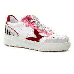 Chaussures femme été 2021 - baskets mode Semerdjian blanc rose