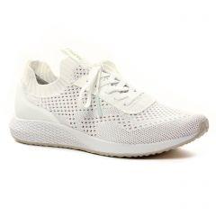 Chaussures femme été 2021 - baskets mode tamaris blanc