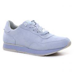 Chaussures femme été 2021 - baskets mode tamaris bleu ciel