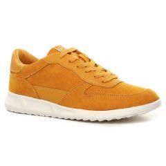 Chaussures femme été 2021 - baskets mode tamaris jaune orangé