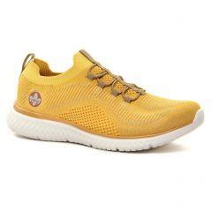 baskets-mode jaune: même style de chaussures en ligne pour femmes que les Rieker