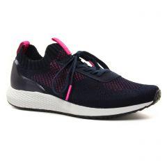 Chaussures femme été 2021 - baskets mode tamaris bleu marine