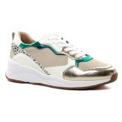 Chaussures femme été 2021 - baskets mode Vanessa Wu or multi