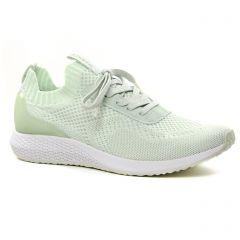 Chaussures femme été 2021 - baskets mode tamaris vert