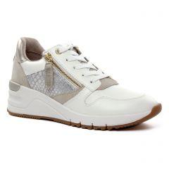 baskets-compensees blanc beige: même style de chaussures en ligne pour femmes que les Tamaris