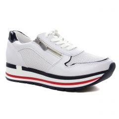 Chaussures femme été 2021 - baskets plateforme marco tozzi blanc