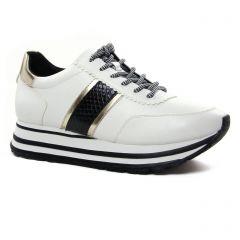 baskets-plateforme blanc noir: même style de chaussures en ligne pour femmes que les Tamaris