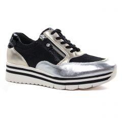 baskets-plateforme noir or argent: même style de chaussures en ligne pour femmes que les Émilie Karston