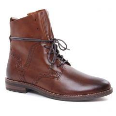 bottines-a-lacets marron: même style de chaussures en ligne pour femmes que les Marco Tozzi