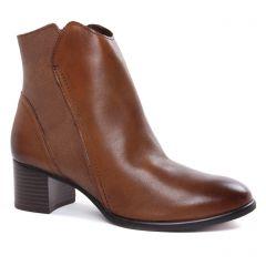 boots-talon marron: même style de chaussures en ligne pour femmes que les Marco Tozzi