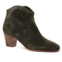 Chaussures femme été 2021 - boots Scarlatine vert kaki