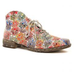 Chaussures femme été 2021 - bottines à lacets rieker multicolore