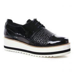derbys-talons-compenses noir vernis: même style de chaussures en ligne pour femmes que les Tamaris