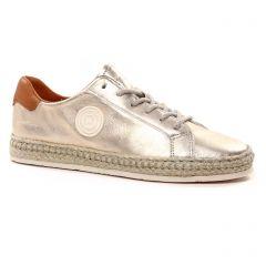 Chaussures femme été 2021 - tennis Pataugas beige dorée