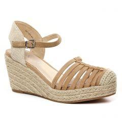 Chaussures femme été 2021 - espadrilles compensées Vanessa Wu beige