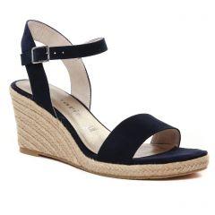 Chaussures femme été 2021 - espadrilles compensées tamaris bleu marine