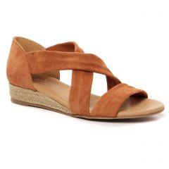espadrilles-compensees-cordes marron: même style de chaussures en ligne pour femmes que les Scarlatine