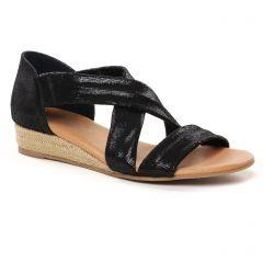 Chaussures femme été 2021 - espadrilles compensées cordes Scarlatine noir