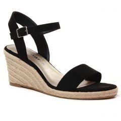 Chaussures femme été 2021 - espadrilles compensées tamaris noir