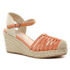 Chaussures femme été 2021 - espadrilles compensées Vanessa Wu orange
